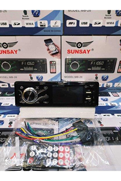 Universal Sunsay Mb-26 Dokunmatik Ekran Bluetootlu Telefon Şarj Edebilme