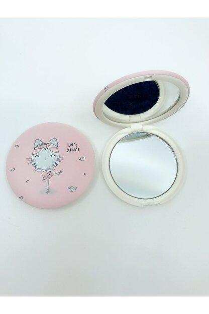 SHAKA Pembe Kedi Baskılı Makyaj Aynası A0040