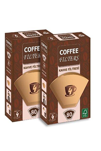 Coffee Filters Coffee 2 Adet - 80 'li Filtre Kağıdı 1 X 4 Avantajlı Paket