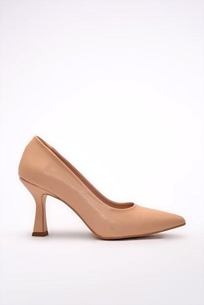 Yaya by Hotiç Nude Kadın Klasik Topuklu Ayakkabı 01AYY197680A330