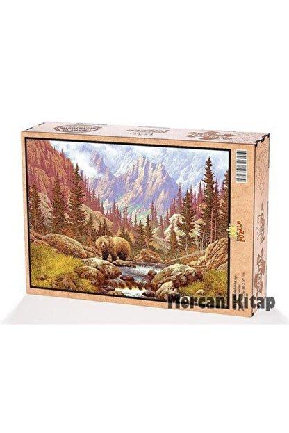 King Of Puzzle Nehirde Ayı Ahşap Puzzle 2000 Parça (hv51-mm)