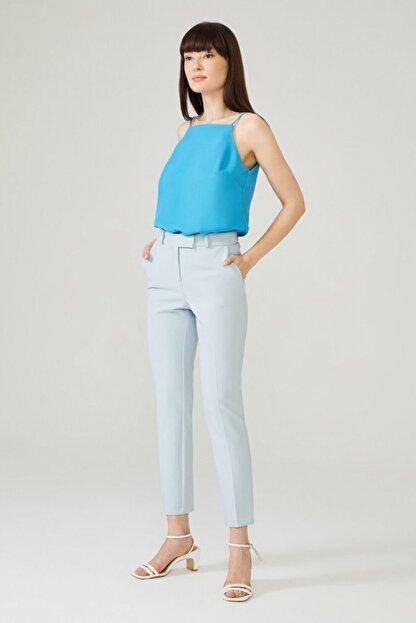 adL Kadın Mavi Arkası Lastikli Pantolon