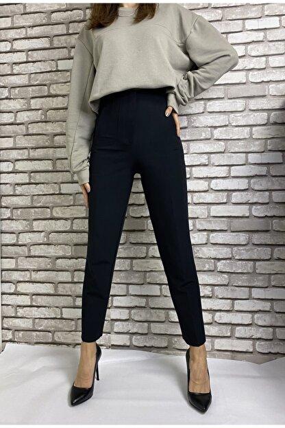 Gizline Kadın Siyah Pensli Pantolon