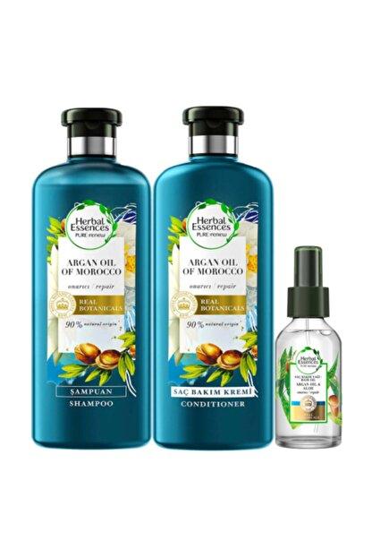 Herbal Essences Essence Argan Yağı Onarıcı Spreyli Saç Bakım Seti