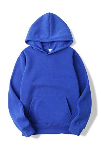 ELBİSENN Kadın Lacivert Kanguru Cepli Kapşonlu Sweatshirt