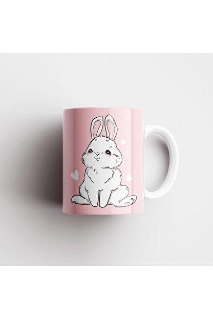 ONLY MUGS Şaşkın Tavşan Kupa   Tavşanlı Kupa   Kupa Bardak   Hediyelik Kupa   Seramik Kupa