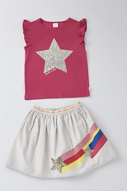Wonder Kids Kız Çocuk Pembe 2'li Takım