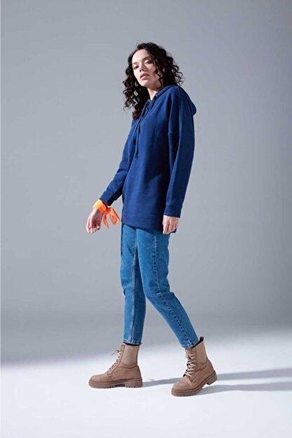 Mizalle Youth Kadın Indigo Oversize Sweatshirt