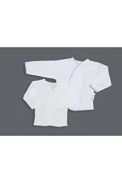 Melish Bebe Erkek Mavi Şeritli Ikili Zıbın Seti (iç-dış)