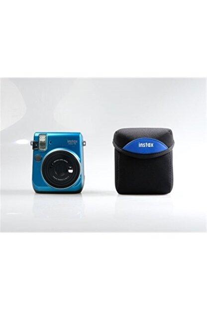 Fujifilm Mini 70 Kumaş Kılıf (siyah - Mavi)