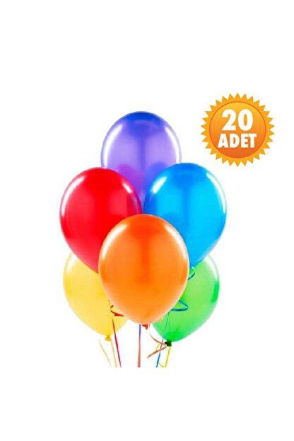 Parti Dünyası Karışık Renk 20 Li Latex Balon