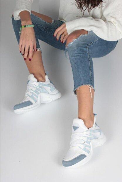 İnan Ayakkabı Kadın Mavi Spor Ayakkabı Y2020