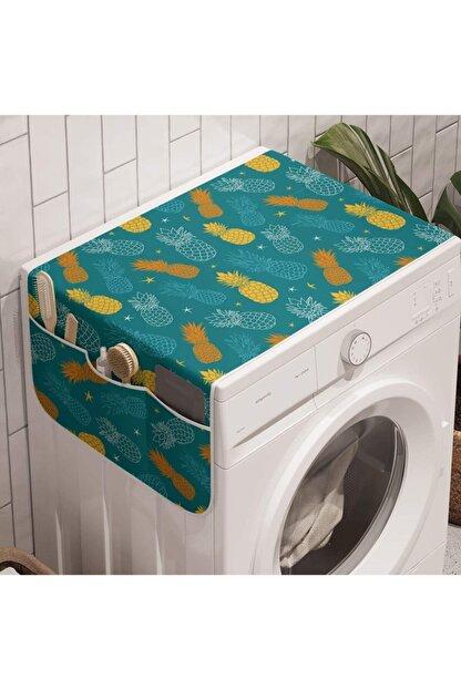 EVGARAJ Cepli Çamaşır Makinesi Buzdolabı Örtüsü Düzenleyici Dolap Üstü Örtü Organizer
