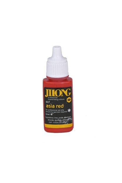 Jilong Mıcrobladıng Kalıcı Makyaj Boyası Asia Red