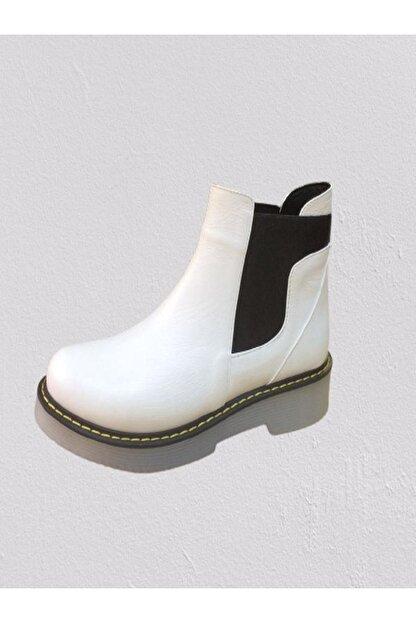 ERS Air Comfort Kadın Beyaz Hakiki Deri  Bot