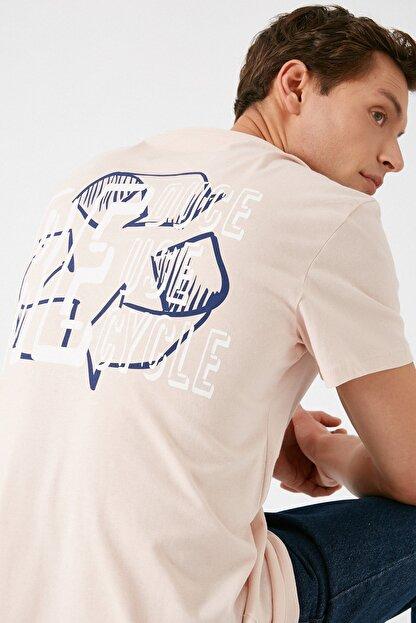 Koton Erkek Pembe T-Shirt 1KAM11165CK