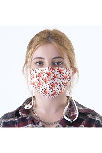 Dijimoda Renkli Batik Yıkanabilir Boyun Askılı Pamuklu Kumaş Maske
