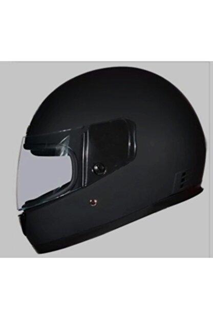 Monero Mat Siyah Renk - Sök Tak Boyun Derili Kalitesinde Tam Kapalı Kask