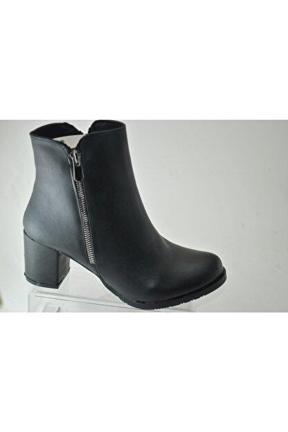 BELPİNO Kadın Siyah Topuklu Bot