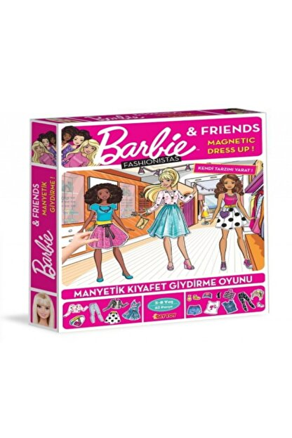 Diytoy Barbie Fahionistas Manyetik Kıyafet Giydirme Oyunu