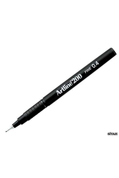artline 200 Fineliner 0.4mm Ince Uçlu Yazı Ve Çizim Kalemi Siyah