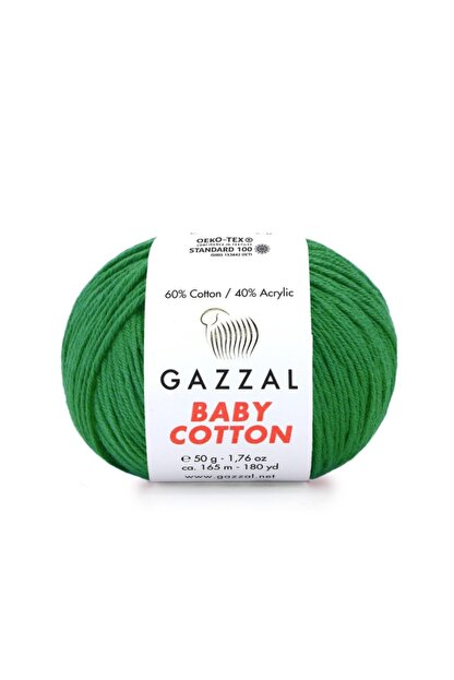 Zedhobi Gazzal Baby Cotton 3456 El Örgü Ipi Amigurumi Ipi 50gr