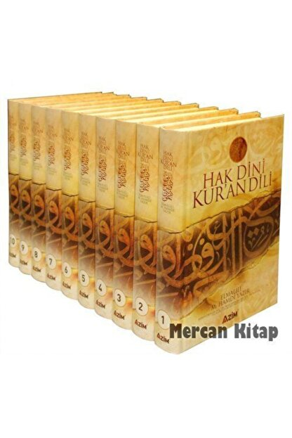 Azim Dağıtım Hak Dini Kur'an Dili (10 Cilt, Büyük Boy, Şamua-kutulu)