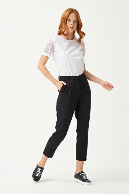 adL Kadın Siyah Pileli Pantolon