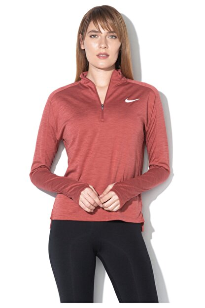 Nike Kadın Kiremit Spor Sweatshirt Nk Pacer Top Hz-928613-661
