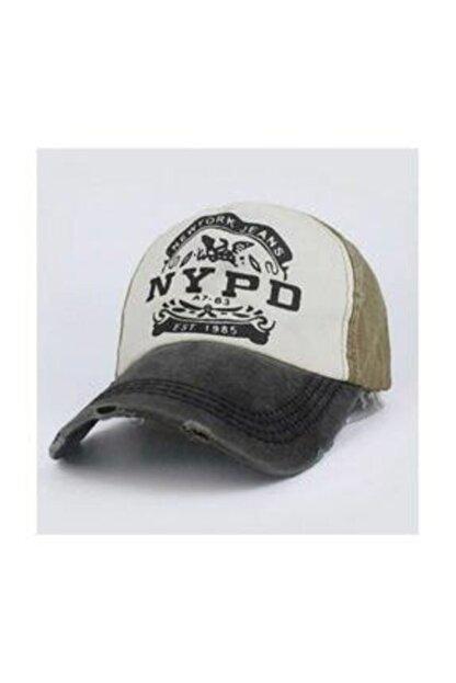 Cosswell Unisex Haki Yeşil Eskitme Tasarım Şapka