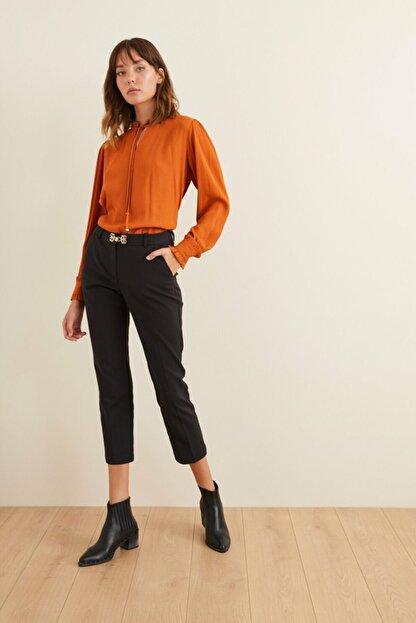 adL Kadın Siyah Düşük Bel Cepli Pantolon