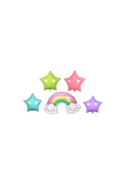 KullanAtParty Gökkuşağı Yıldızlı Set