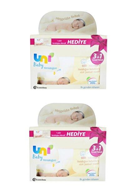 Uni Baby Yenidoğan Islak Mendil 3+1 2'li 320 Yaprak