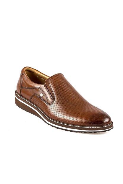 Fosco Erkek Taba Bağcıksız  Hakiki Deri Günlük Ayakkabı 8566 45