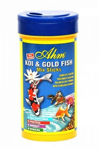 Ahm Koi Goldfish Mix Pond Sticks Balık Yemi 1000 Ml