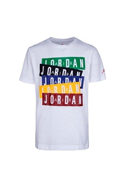 Nike Erkek Çocuk Beyaz Jordan Jordan Stack Tişört 95a069-001