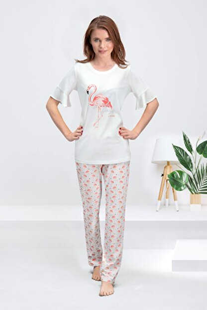 Arnetta Kadın Krem Good Days Pijama Takımı