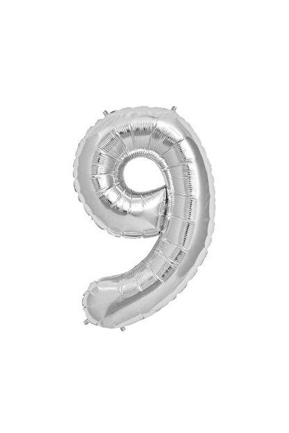 Shaka Gümüş Folyo Balon 9 Sayısı 34'inç 76 cm
