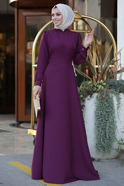 Lavienza Kruvaze Tesettür Elbise