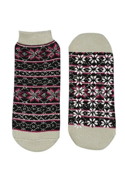 NZR GROUP Kadın Poffy Kaydırmaz Tabanlı Termal Çorap