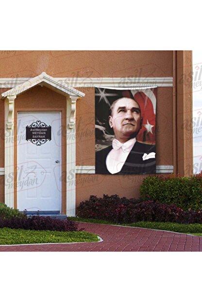 Asilmeydan Göğe Bakan Gazi Mustafa Kemal Atatürk - Ay Yıldız Türk Bayrağı Poster - Bayrak 100x150 Cm