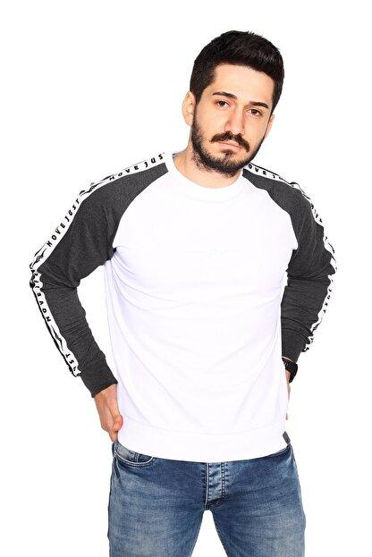 Bessa Sport Siyah Sweatshirt 2 Iplik Reglan Kol Modeli