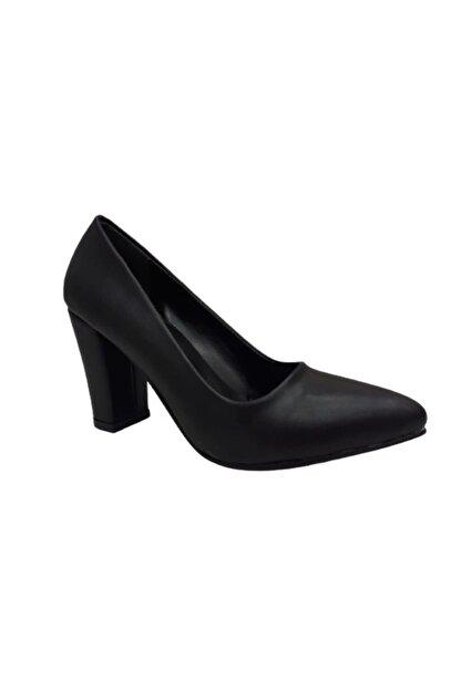 Beyonce Kadın Siyah Kalın Topuk Ayakkabı