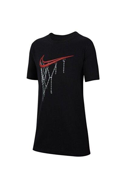 Nike Erkek Çocuk Siyah B Nsw Tee Swoosh Rım Tişört Cv2165-010
