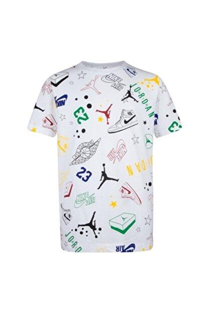 Nike Erkek Çocuk Beyaz Jordan Allstar Scrıbble  Tişört 95a075-001