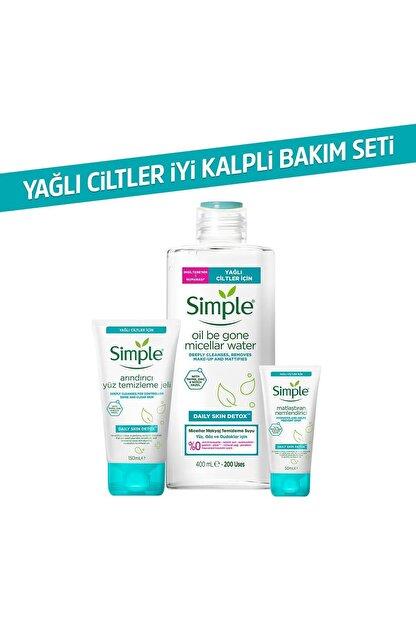 Simple Daily Skin Detox Yağlı/karma Ciltler Için Sert Kimyasalsız & Kekik Özü Içeren Bakım Seti