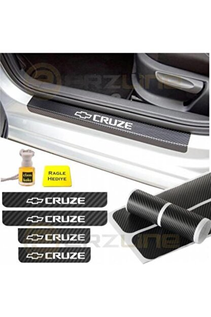 Adel Chevrolet Cruze Karbon Kapı Eşiği Oto Sticker 4 Adet
