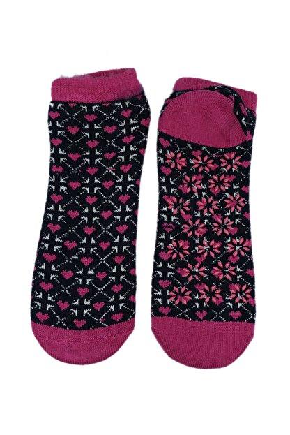 NZR GROUP Kadın Termal Çorap Poffy Kaydırmaz Tabanlı