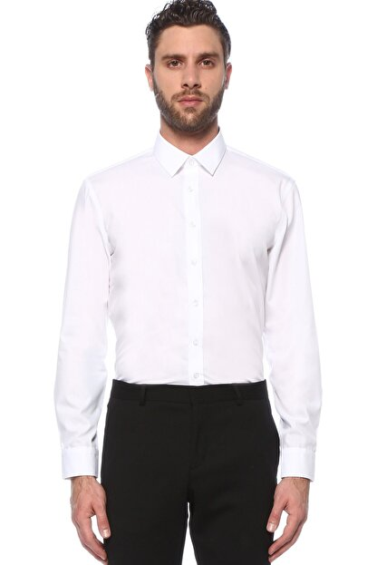 Network Erkek Beyaz Non Iron Beyaz Gömlek 1075271