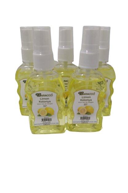 baracco parfüm 80 Derece Cep Kolonyası 50ml X 5 Dezenfektan Için Sprey Limon Kolonyası